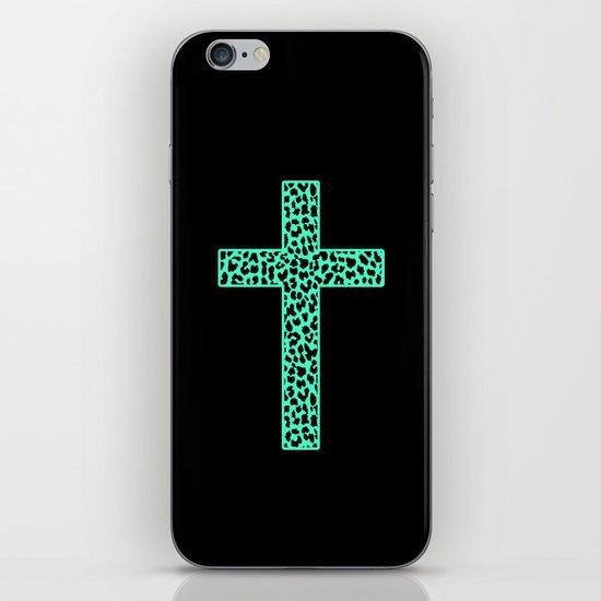 Mint Leopard Cross iPhone & iPod Skin