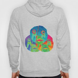 faucet face triad blue purple red Hoody