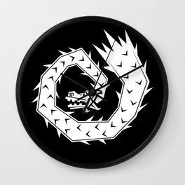 Mariachi Ronin Feathered Snake white Wall Clock