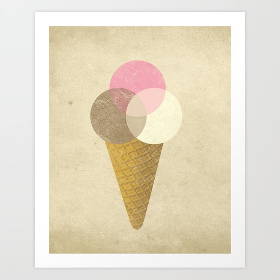 Ice Cream Venndor Art Print