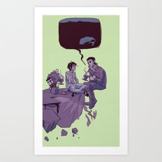tea party in the void Art Print