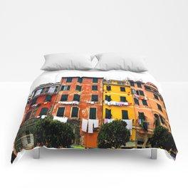 Cinque Terre - Colorful Buildings in Monterosso Comforters