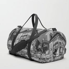 Times Square III Special Edition I (black & white) Duffle Bag