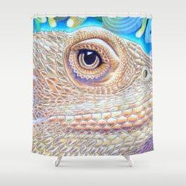 Dragon Star, Bearded Dragon Lizard Art Shower Curtain