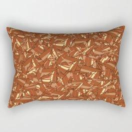 Chocolate Brown Abstract Rectangular Pillow