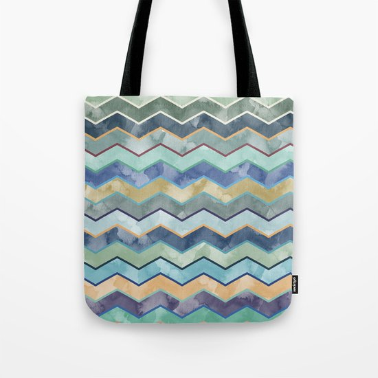 Watercolor Colorful Wave  Tote Bag