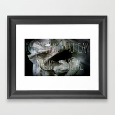 Everything you can imagine is real Framed Art Print