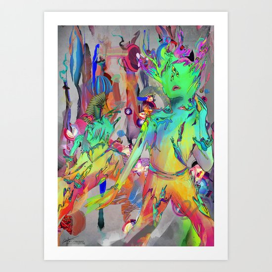 Intervoid Follium Art Print