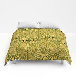 Geometric sunflowers Comforters