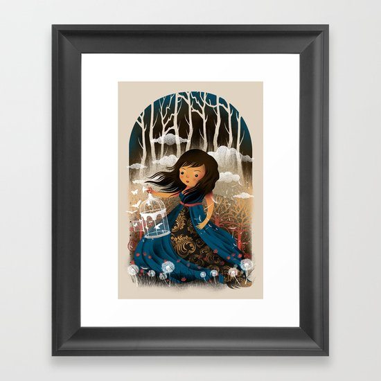 There Once Was A Girl In A Whimsical Land Framed Art Print