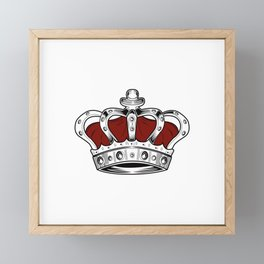 Crown - Red Framed Mini Art Print