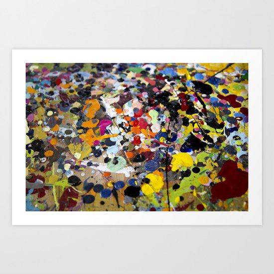 Palette. In the original sense of the word. Art Print