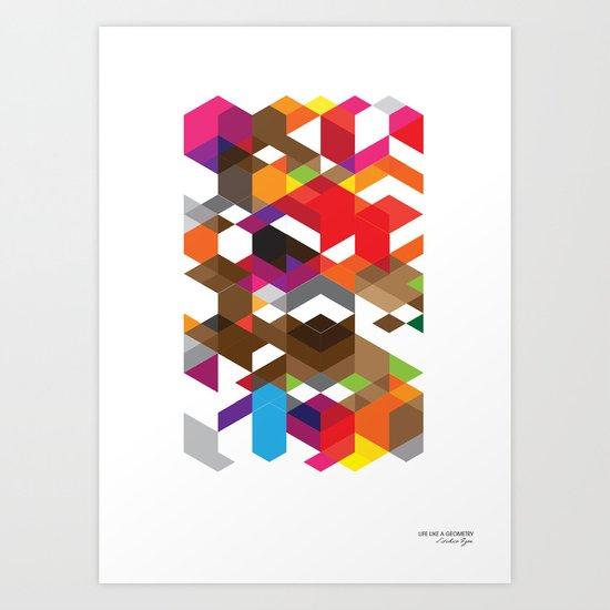 Life like a Geometry Art Print