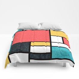 Clean Mondrian (Sponge) Comforters
