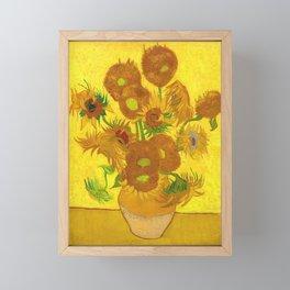 Vincent Van Gogh Fifteen Sunflowers In A Vase Framed Mini Art Print