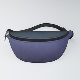 Cambridge Night: Black navy purple ombre flames Fanny Pack