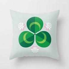White Clover Throw Pillow