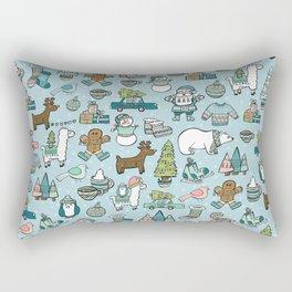 Whimsical Christmas, Sweater Weather, Fa La La La La, Holly Jolly, Holiday Print, Tis The Season Rectangular Pillow