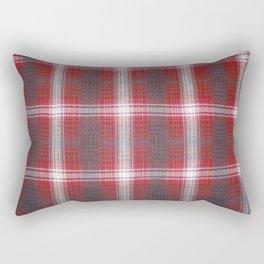 Texture #19 Plaid fabric. Rectangular Pillow