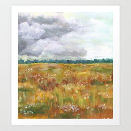 weather front in summer Art Print