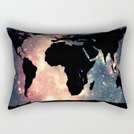 World Map Mauve & Teal Space Rectangular Pillow