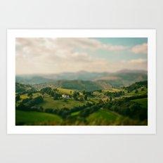 Valley Tilt Shift Art Print