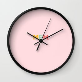 MEH. pink Wall Clock
