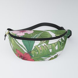 Tropical Paradise Spicy Floral Pattern Fanny Pack