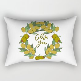 Olive You Rectangular Pillow