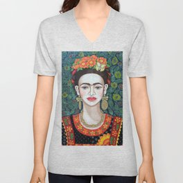 Frida, queen of hearts closer II Unisex V-Neck