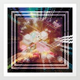 GEOMETRIC MIAMI NIGHT Art Print