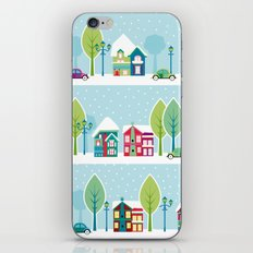 Ski house iPhone & iPod Skin