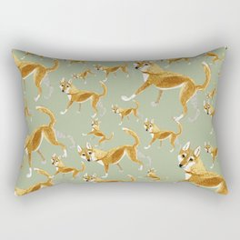 Ginger dingo pattern Rectangular Pillow
