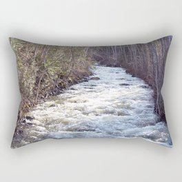 Swollen Creek Runs Wild Rectangular Pillow