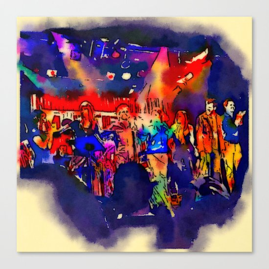 And the Band Played On Canvas Print