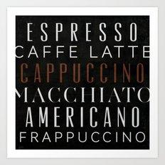 Coffee 01 Art Print