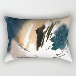 Twilight Wandering - a watercolor and ink abstract  Rectangular Pillow