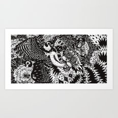 Domesticated (Afternoon in the Garden) Art Print