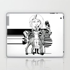 the girl, her dog and a bird Laptop & iPad Skin