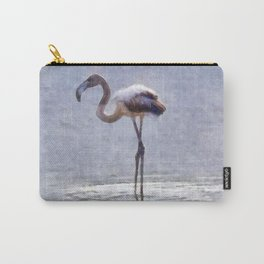 Flamingo Ripples and Reflections Watercolor Carry-All Pouch