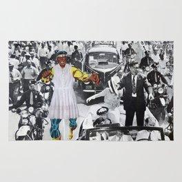 Inauguration Run - Vintage Collage Rug