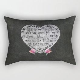 I Love You Chalk Heart Rectangular Pillow