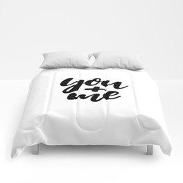 you + me Comforters