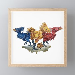 Chocobos Framed Mini Art Print