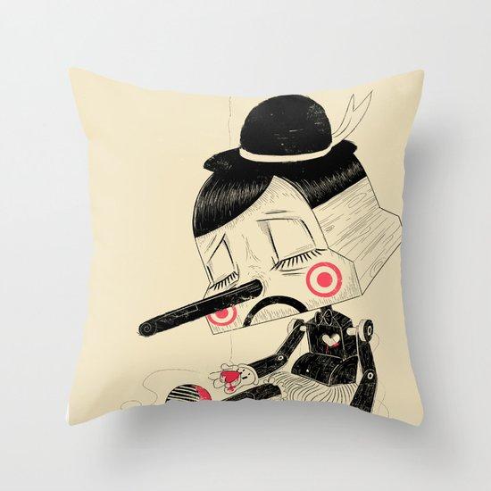 Unplug Throw Pillow