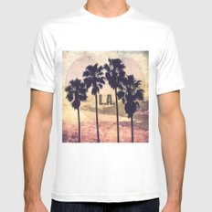L.A. Love White MEDIUM Mens Fitted Tee