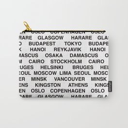 Citytype No.1 - White Carry-All Pouch