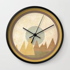 Moon & Mountains Wall Clock