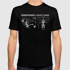 The Aerodynamics of a Basset Hound LARGE Mens Fitted Tee Black