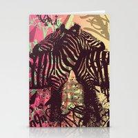 zebra Stationery Cards featuring ZEBRA by Nechifor Ionut
